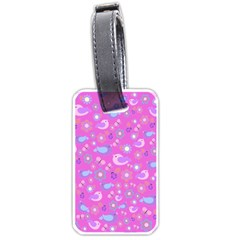 Spring pattern - pink Luggage Tags (Two Sides)