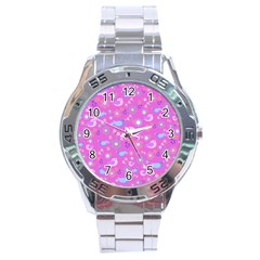 Spring pattern - pink Stainless Steel Analogue Watch