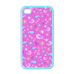 Spring pattern - pink Apple iPhone 4 Case (Color)