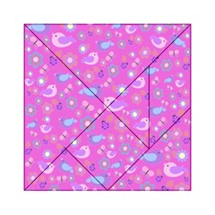 Spring pattern - pink Acrylic Tangram Puzzle (6  x 6 )