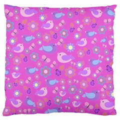 Spring pattern - pink Large Cushion Case (One Side)