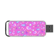 Spring pattern - pink Portable USB Flash (One Side)