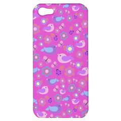 Spring pattern - pink Apple iPhone 5 Hardshell Case