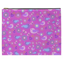 Spring pattern - pink Cosmetic Bag (XXXL)