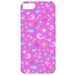 Spring pattern - pink Apple iPhone 5 Classic Hardshell Case