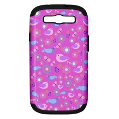 Spring pattern - pink Samsung Galaxy S III Hardshell Case (PC+Silicone)