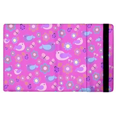Spring pattern - pink Apple iPad 3/4 Flip Case