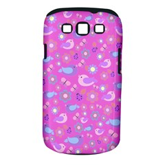Spring pattern - pink Samsung Galaxy S III Classic Hardshell Case (PC+Silicone)