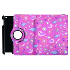 Spring pattern - pink Apple iPad 3/4 Flip 360 Case