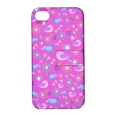 Spring pattern - pink Apple iPhone 4/4S Hardshell Case with Stand