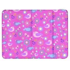 Spring pattern - pink Samsung Galaxy Tab 7  P1000 Flip Case