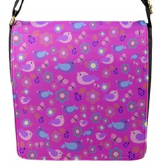 Spring pattern - pink Flap Messenger Bag (S)