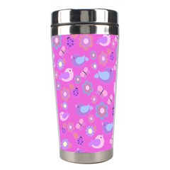 Spring pattern - pink Stainless Steel Travel Tumblers