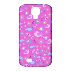 Spring pattern - pink Samsung Galaxy S4 Classic Hardshell Case (PC+Silicone)