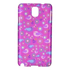 Spring pattern - pink Samsung Galaxy Note 3 N9005 Hardshell Case
