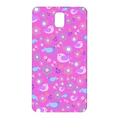 Spring pattern - pink Samsung Galaxy Note 3 N9005 Hardshell Back Case