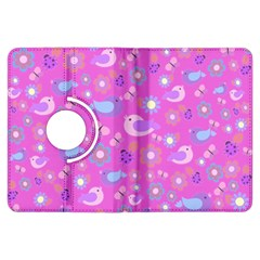 Spring pattern - pink Kindle Fire HDX Flip 360 Case