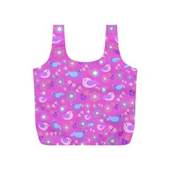 Spring pattern - pink Full Print Recycle Bags (S)