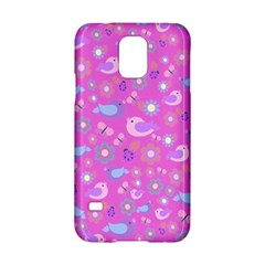 Spring pattern - pink Samsung Galaxy S5 Hardshell Case