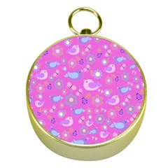 Spring pattern - pink Gold Compasses
