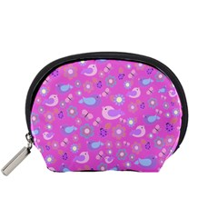 Spring pattern - pink Accessory Pouches (Small)