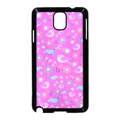 Spring pattern - pink Samsung Galaxy Note 3 Neo Hardshell Case (Black)