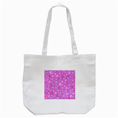 Spring pattern - pink Tote Bag (White)
