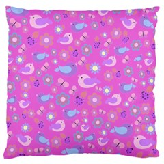Spring pattern - pink Large Flano Cushion Case (Two Sides)