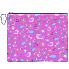 Spring pattern - pink Canvas Cosmetic Bag (XXXL)