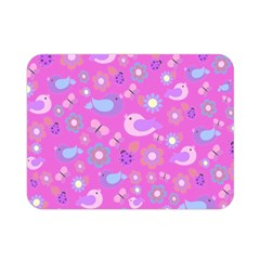 Spring pattern - pink Double Sided Flano Blanket (Mini)