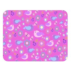 Spring pattern - pink Double Sided Flano Blanket (Large)