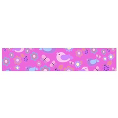Spring pattern - pink Flano Scarf (Small)