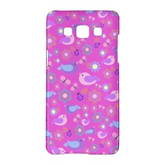 Spring pattern - pink Samsung Galaxy A5 Hardshell Case