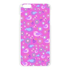 Spring pattern - pink Apple Seamless iPhone 6 Plus/6S Plus Case (Transparent)