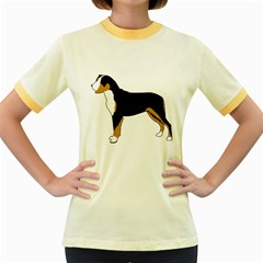 Entlebucher Mt Dog Silo Color Women s Fitted Ringer T-Shirts