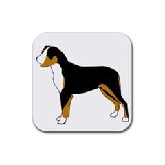 Entlebucher Mt Dog Silo Color Rubber Coaster (Square)