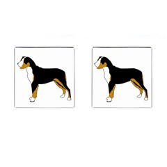 Entlebucher Mt Dog Silo Color Cufflinks (Square)