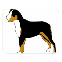 Entlebucher Mt Dog Silo Color Double Sided Flano Blanket (Large)