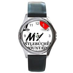 Entlebucher Mountain Dog Love Round Metal Watch