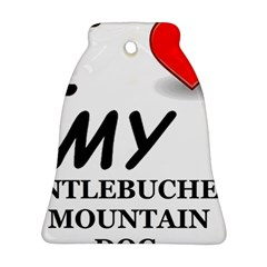 Entlebucher Mountain Dog Love Bell Ornament (Two Sides)