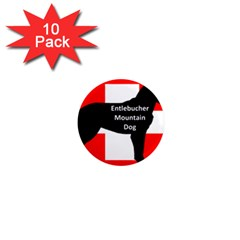 Entlebucher Mt Dog Name Silo On Switzerland Flag 1  Mini Magnet (10 pack)