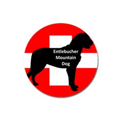 Entlebucher Mt Dog Name Silo On Switzerland Flag Magnet 3  (Round)