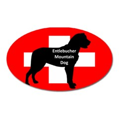 Entlebucher Mt Dog Name Silo On Switzerland Flag Oval Magnet