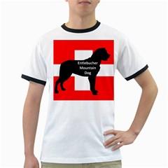 Entlebucher Mt Dog Name Silo On Switzerland Flag Ringer T-Shirts