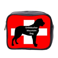 Entlebucher Mt Dog Name Silo On Switzerland Flag Mini Toiletries Bag 2-Side