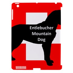 Entlebucher Mt Dog Name Silo On Switzerland Flag Apple iPad 3/4 Hardshell Case (Compatible with Smart Cover)
