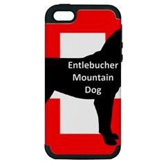 Entlebucher Mt Dog Name Silo On Switzerland Flag Apple iPhone 5 Hardshell Case (PC+Silicone)