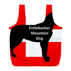 Entlebucher Mt Dog Name Silo On Switzerland Flag Full Print Recycle Bags (L)