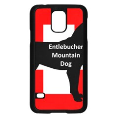 Entlebucher Mt Dog Name Silo On Switzerland Flag Samsung Galaxy S5 Case (Black)