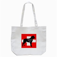 Entlebucher Mt Dog Name Silo On Switzerland Flag Tote Bag (White)